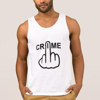 Trägershirt-Verbrechen ist kriminell Tank Top