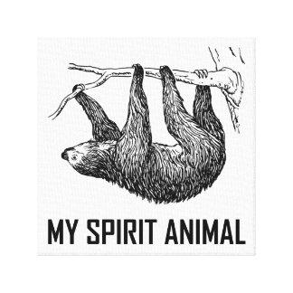 Trägheit mein Geist-Tier lustig Leinwanddruck