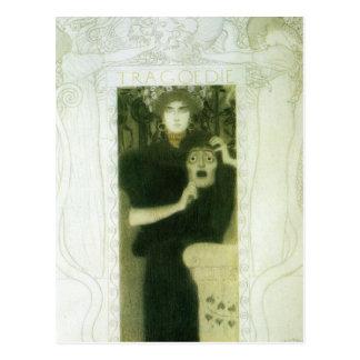 Tragödie durch Gustav Klimt Postkarte
