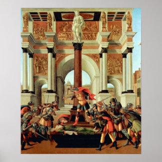 Tragödie von Lucretia durch Botticelli, Poster