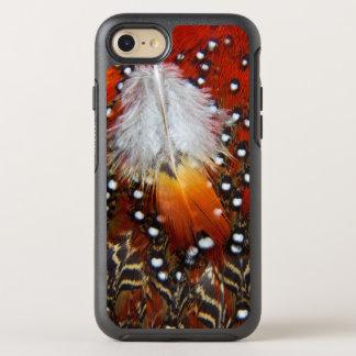 Tragopan versieht Stillleben mit Federn OtterBox Symmetry iPhone 8/7 Hülle