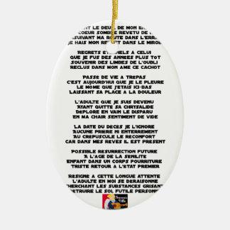 Trägt die Trauer meiner Kindheit - Gedicht Keramik Ornament