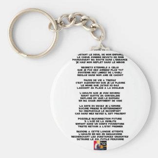 Trägt die Trauer meiner Kindheit - Gedicht Schlüsselanhänger