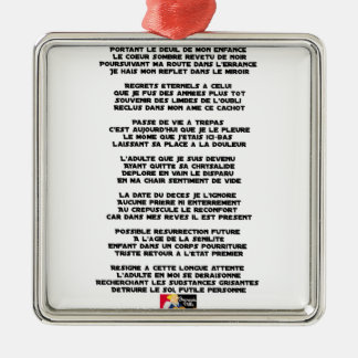 Trägt die Trauer meiner Kindheit - Gedicht Silbernes Ornament