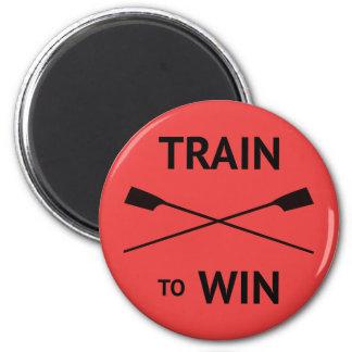 Trägt rotes Rudersport des motivierend Zitats zur Runder Magnet 5,1 Cm