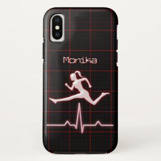 Trainer-persönliches Trainer-Frauen-Springen iPhone X Hülle