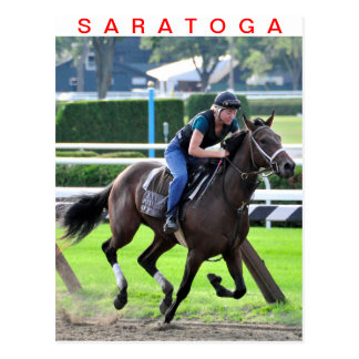 Trainings Bruce Brown bei Saratoga Postkarte