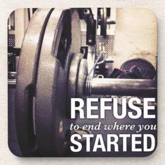 Trainings-Motivations-Abfall, zum zu beenden, wo Untersetzer