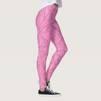 Trainingsgamaschen im rosa Blumenmuster Leggings