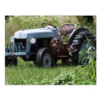 Traktor auf einem Gebiet Postkarte