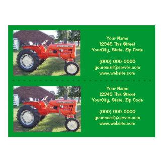 Traktor-Bookmarker/Visitenkarten - fertigen Sie Postkarte