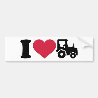 Traktor der Liebe I Autoaufkleber