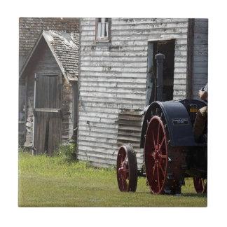 Traktor des Dampf-1800's Fliese