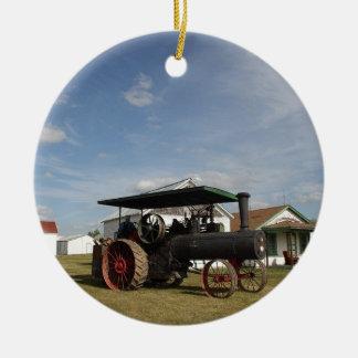 Traktor des Dampf-1800's Keramik Ornament