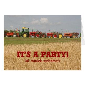 Traktor-Einladung: Alles Modell-Willkommen Karte