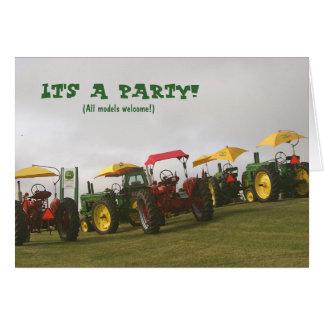 Traktor-Einladung: Alles Modelwillkommen! Karte