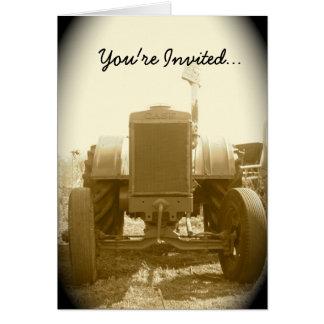 Traktor-Einladung -- Alter Traktor Karte