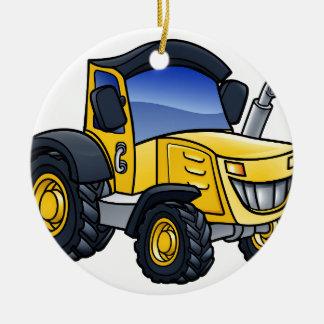 Traktor-Fahrzeug-Cartoon Keramik Ornament