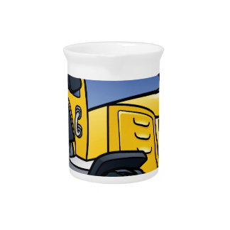 Traktor-Fahrzeug-Cartoon Krug