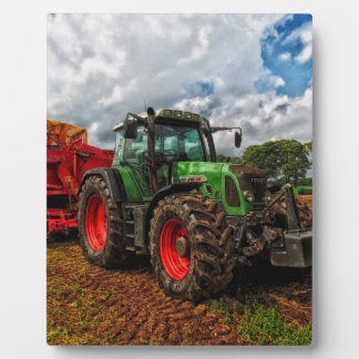 Traktor Fotoplatte