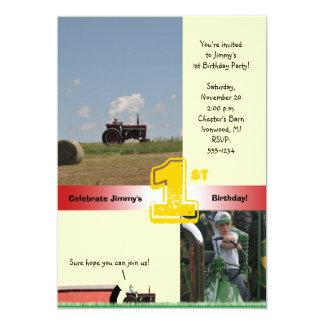 Traktor-Geburtstags-Einladung: Internationaler 12,7 X 17,8 Cm Einladungskarte
