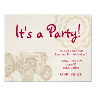 Traktor-Geburtstags-Party Einladung
