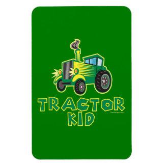 Traktor-Kind, grün Magnete