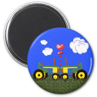 Traktor-Küssen Runder Magnet 5,7 Cm