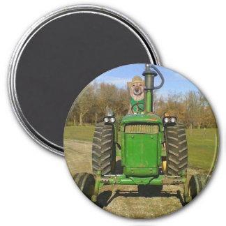 Traktor-Labrador Kühlschrankmagnet