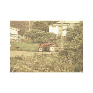 Traktor Leinwanddruck