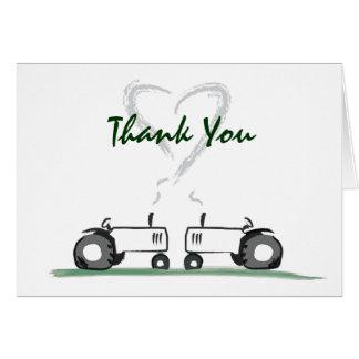 Traktor-Liebe Danken-Ihre Anmerkungs-Karte Karte