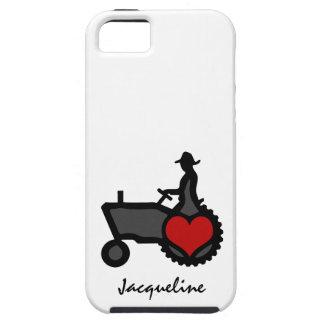 Traktor mit Herz-Liebe das Land iPhone 5 Cover
