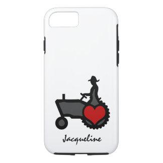 Traktor mit Herz-Liebe das Land iPhone 8/7 Hülle