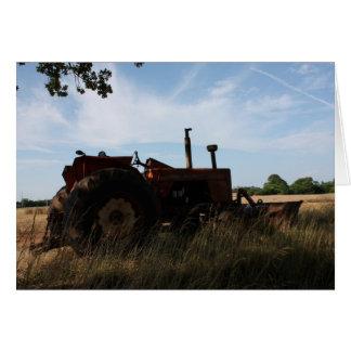 Traktor Notecard Karte