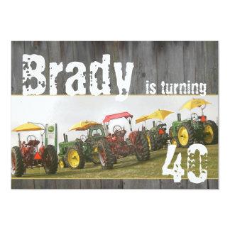 Traktor-Party Einladung: Scheunenholz u. 12,7 X 17,8 Cm Einladungskarte