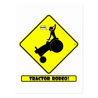 TRAKTOR-RODEO 1y Postkarte