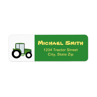 Traktor-Rücksendeadresse-Aufkleber