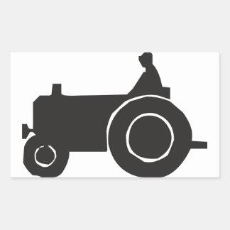 Traktor-Silhouette-Aufkleber Rechteckiger Aufkleber
