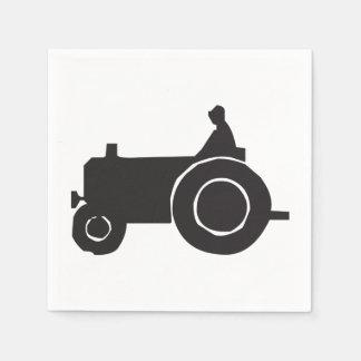 Traktor-Silhouette-Papierservietten Serviette