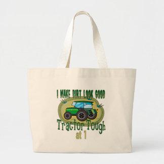 Traktor-starker 1. Geburtstag Jumbo Stoffbeutel