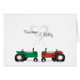 Traktor-Valentinsgruß-Karte Karte