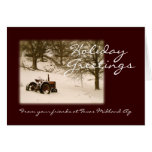 Traktor-Weihnachtskarte für Geschäft oder Familie Grußkarte