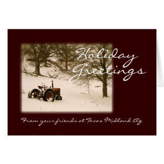 Traktor-Weihnachtskarte für Geschäft oder Familie Karte