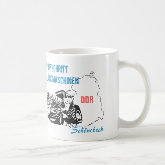 Traktoren DDR Design Kaffeetasse