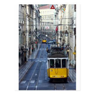 Tram 28, Lisbon, Portugal, Postkarte