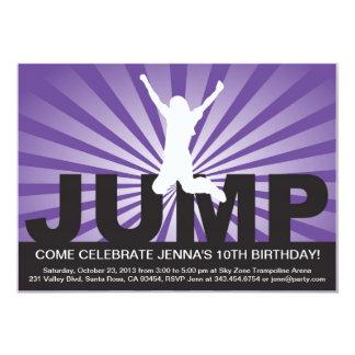 Trampoline-Geburtstags-Party Einladung für ein