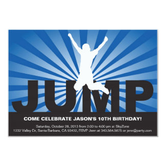 Trampoline-Geburtstags-Party Einladung für einen