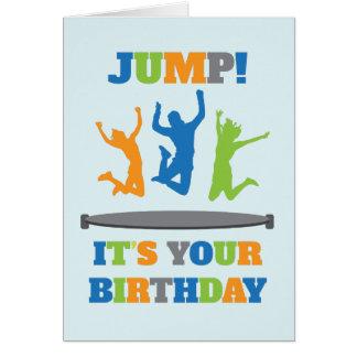Trampoline-Geburtstags-Party Karte