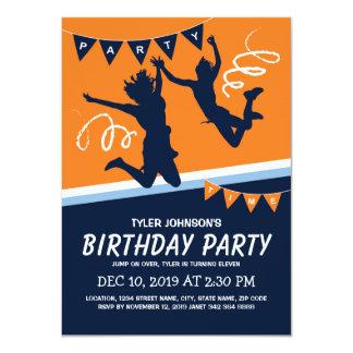 Trampoline-Park-Jungen-Kindergeburtstag-Party 11,4 X 15,9 Cm Einladungskarte