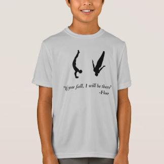 Trampoline-Shirt der Gymnastik der Jungen-Männer T-Shirt